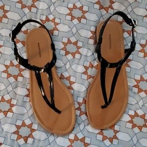 Black patent sandals. SIZE 5.  New in box.